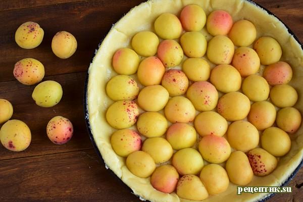Абрикосовый пирог из двух видов теста - рецепт с фото, шаг 7
