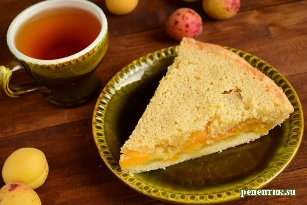 Абрикосовый пирог из двух видов теста - рецепт с фото