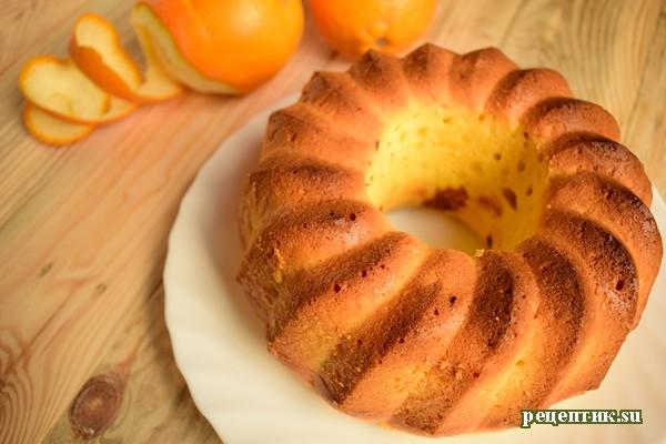 Апельсиновый кекс на сметане - рецепт с фото