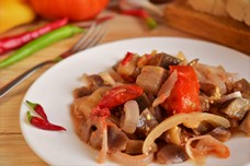 Рецепт баклажанов с овощами в остром маринаде