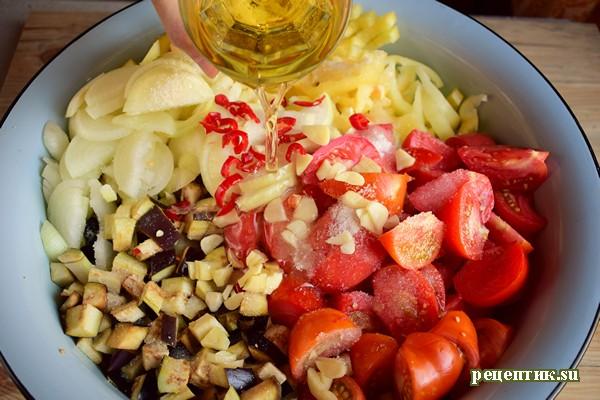 Баклажаны с овощами в остром маринаде - рецепт с фото, шаг 3