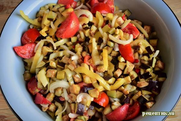 Баклажаны с овощами в остром маринаде - рецепт с фото, шаг 4