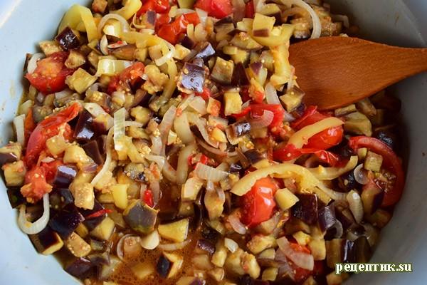 Баклажаны с овощами в остром маринаде - рецепт с фото, шаг 5