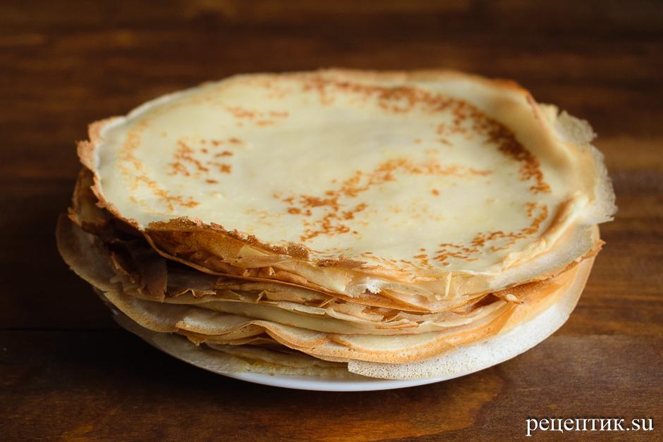 Блинный торт «Крепвиль» с маскарпоне - рецепт с фото, шаг 7