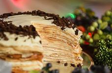 Блинный торт «Крепвиль» с маскарпоне