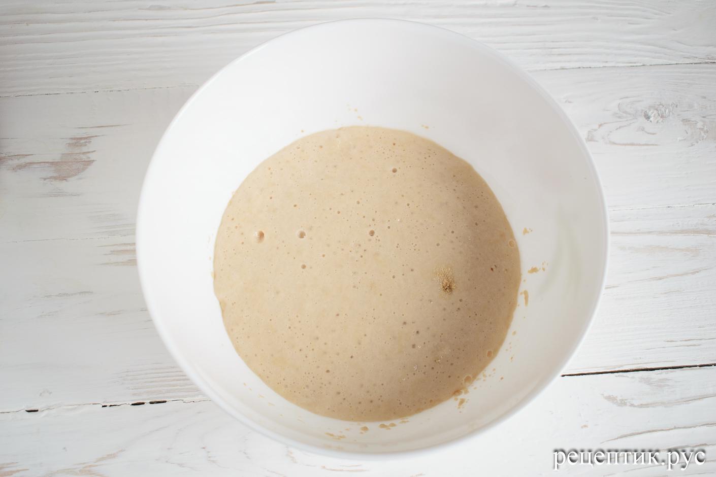 Дрожжевая булка с сыром - рецепт с фото, шаг 1