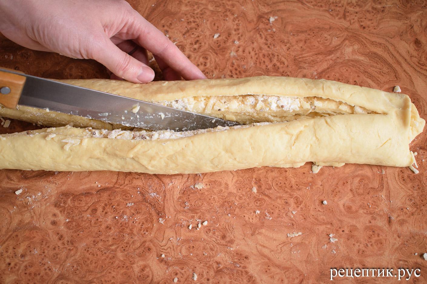 Дрожжевая булка с сыром - рецепт с фото, шаг 10