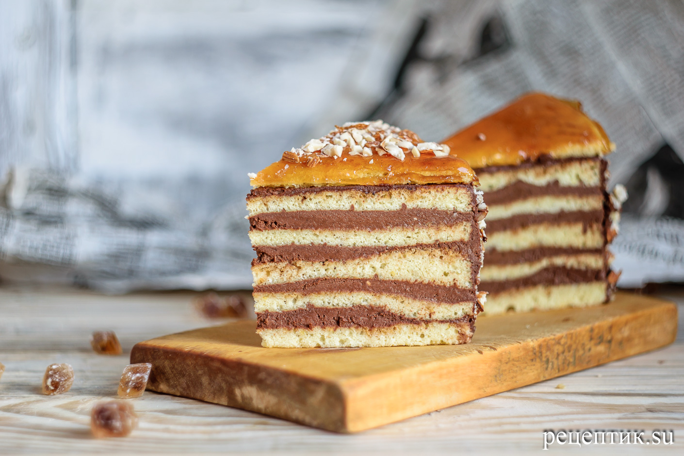 Торт «Добош» - рецепт с фото, шаг 30