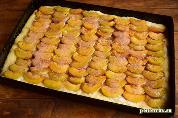 Пышный дрожжевой пирог со сливами - рецепт с фото, шаг 19