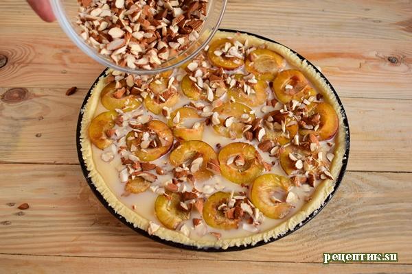 Эльзасский пирог со сливами и сливочной заливкой - рецепт с фото, шаг 14