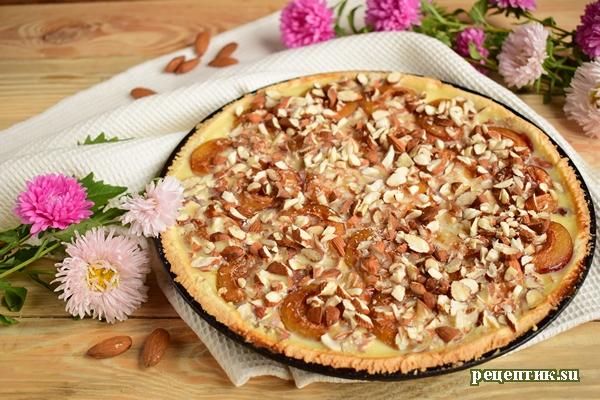 Эльзасский пирог со сливами и сливочной заливкой - рецепт с фото, результат