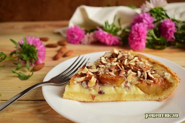 Эльзасский пирог со сливами и сливочной заливкой - рецепт с фото