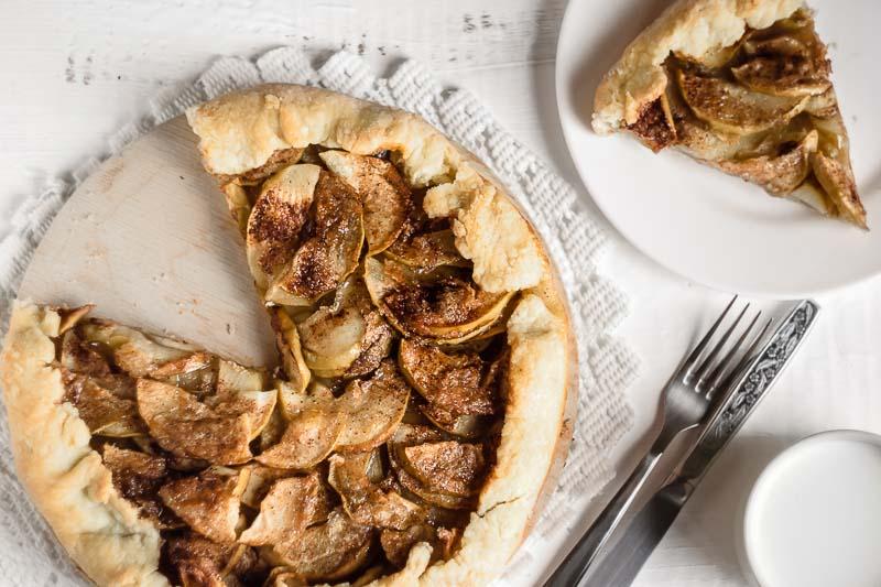 Рецепт галеты с яблоками