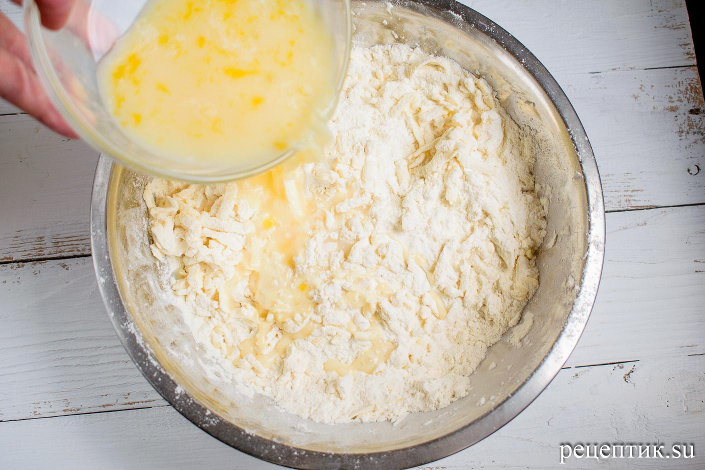 Карамельно-ореховый наполеон со сметанным кремом - рецепт с фото, шаг 6
