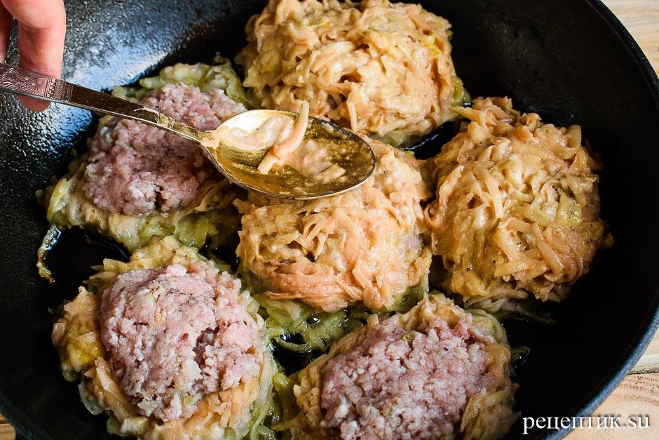Картофельные драники с мясом (колдуны) - рецепт с фото, шаг 9
