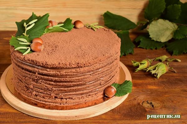 Кофейно-шоколадный торт с нутеллой «Ореховый мокко» - рецепт с фото, результат