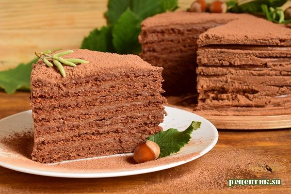 Кофейно-шоколадный торт с нутеллой «Ореховый мокко» - рецепт с фото