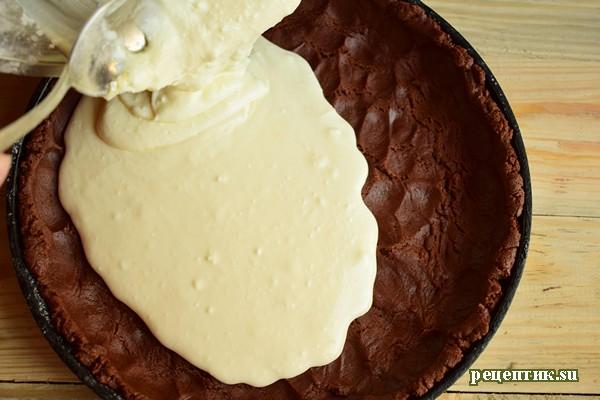 Шоколадный пирог «Коровка Бурёнка» - рецепт с фото, шаг 10