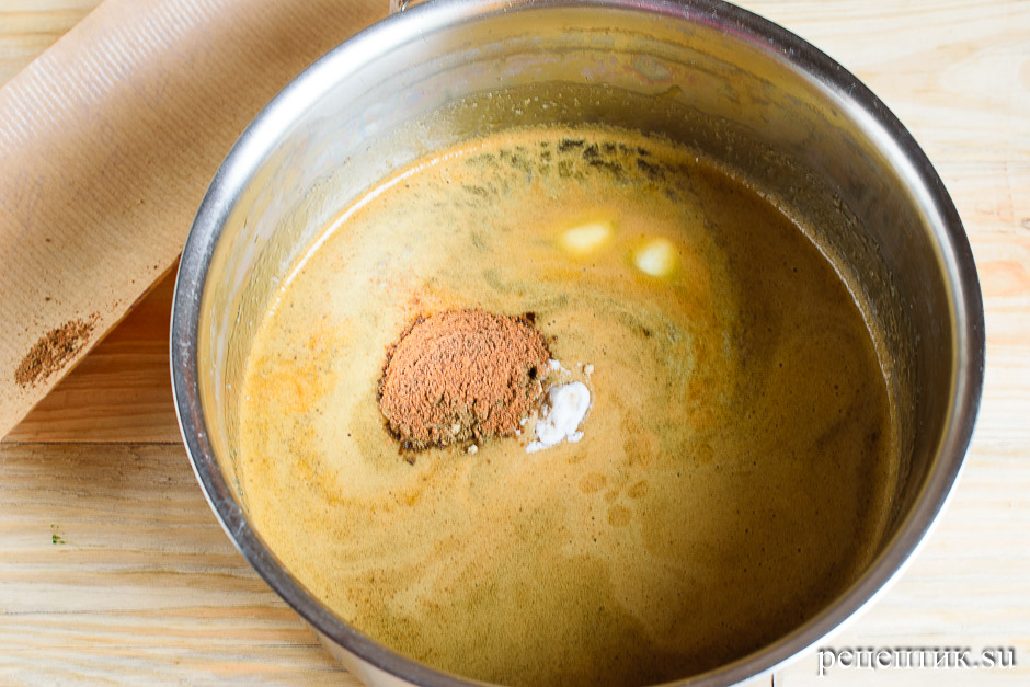Козульное пряничное тесто на карамели - рецепт с фото, шаг 9