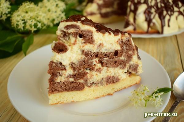 Шоколадный торт «Кучерявый мальчик» - рецепт с фото, результат