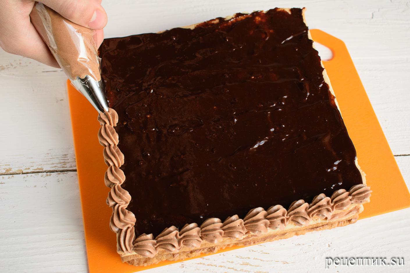 Торт «Ленинградский» — песочный торт с шоколадным масляным кремом - рецепт с фото, шаг 17
