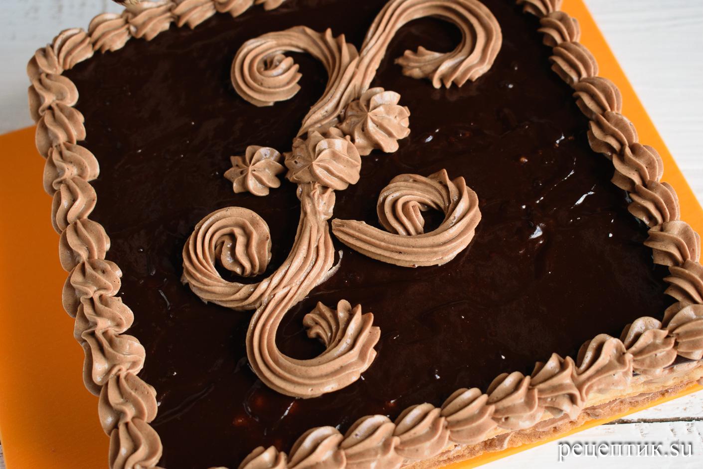 Торт «Ленинградский» — песочный торт с шоколадным масляным кремом - рецепт с фото, шаг 18