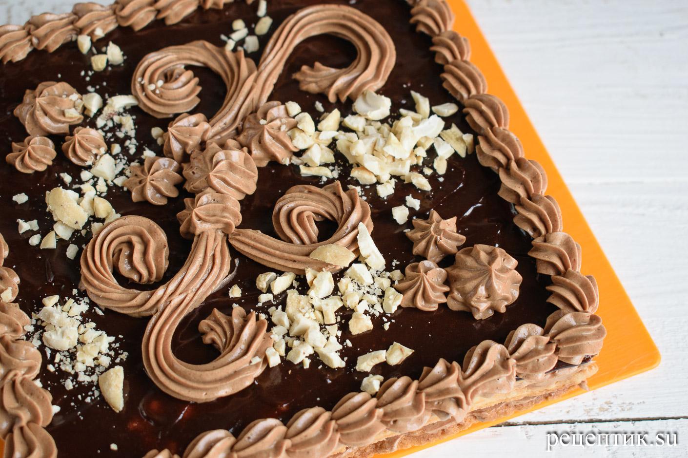 Торт «Ленинградский» — песочный торт с шоколадным масляным кремом - рецепт с фото, шаг 19