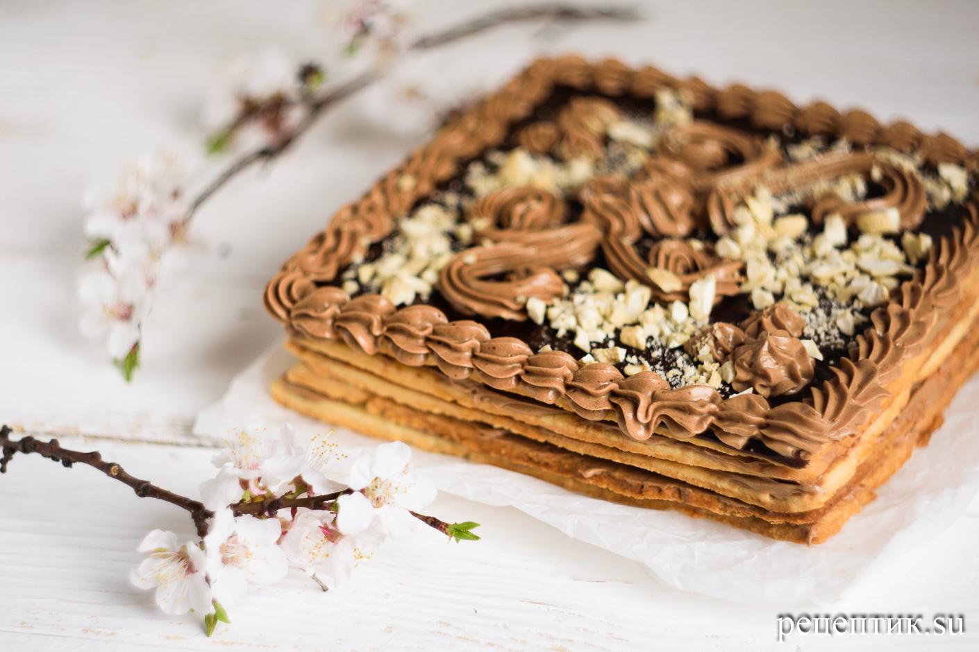 Торт «Ленинградский» — песочный торт с шоколадным масляным кремом - рецепт с фото
