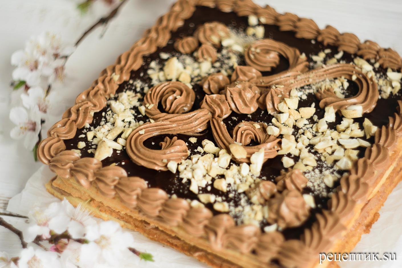 Торт «Ленинградский» — песочный торт с шоколадным масляным кремом - рецепт с фото, шаг 20