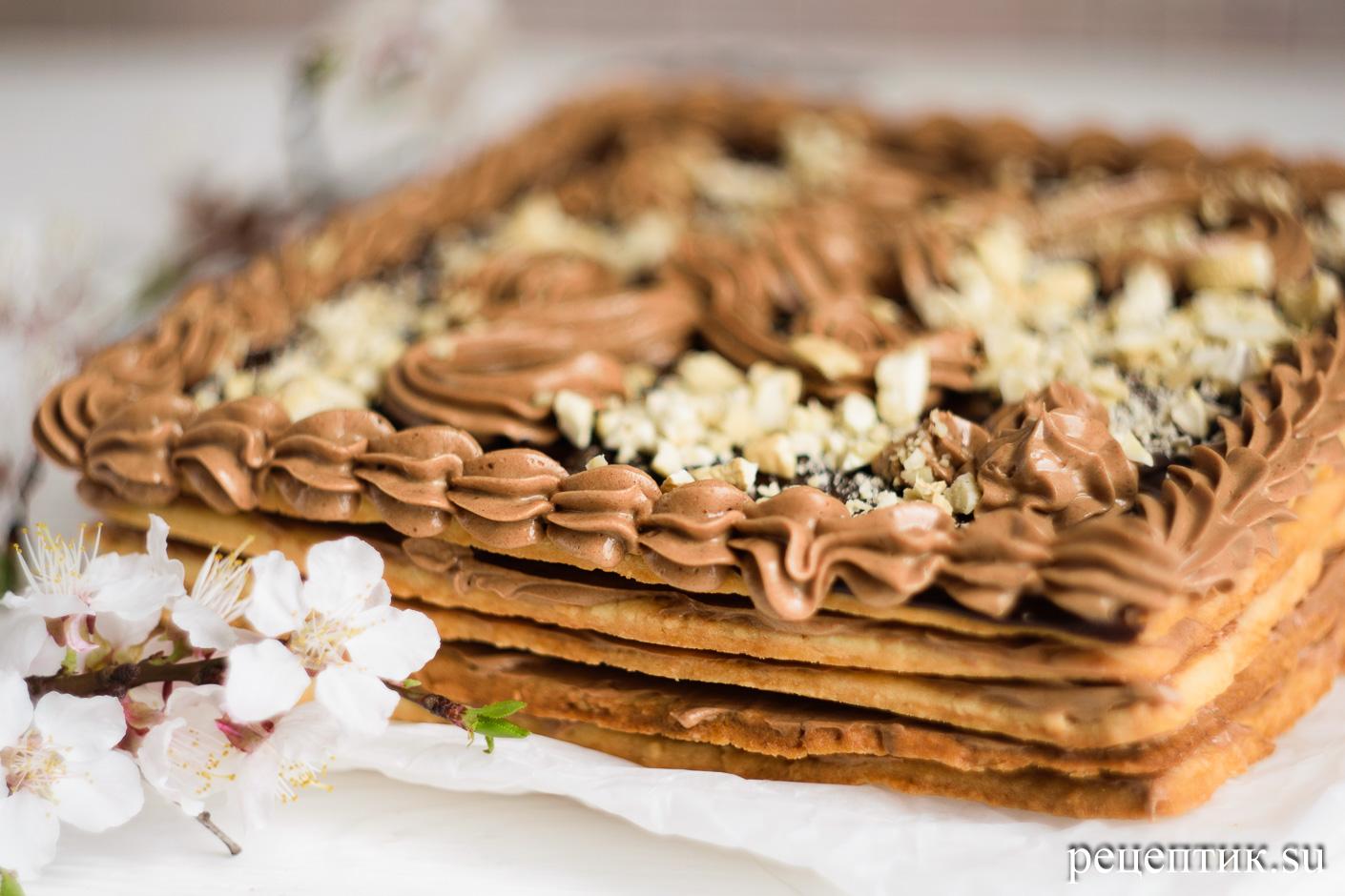 Торт «Ленинградский» — песочный торт с шоколадным масляным кремом - рецепт с фото, шаг 21