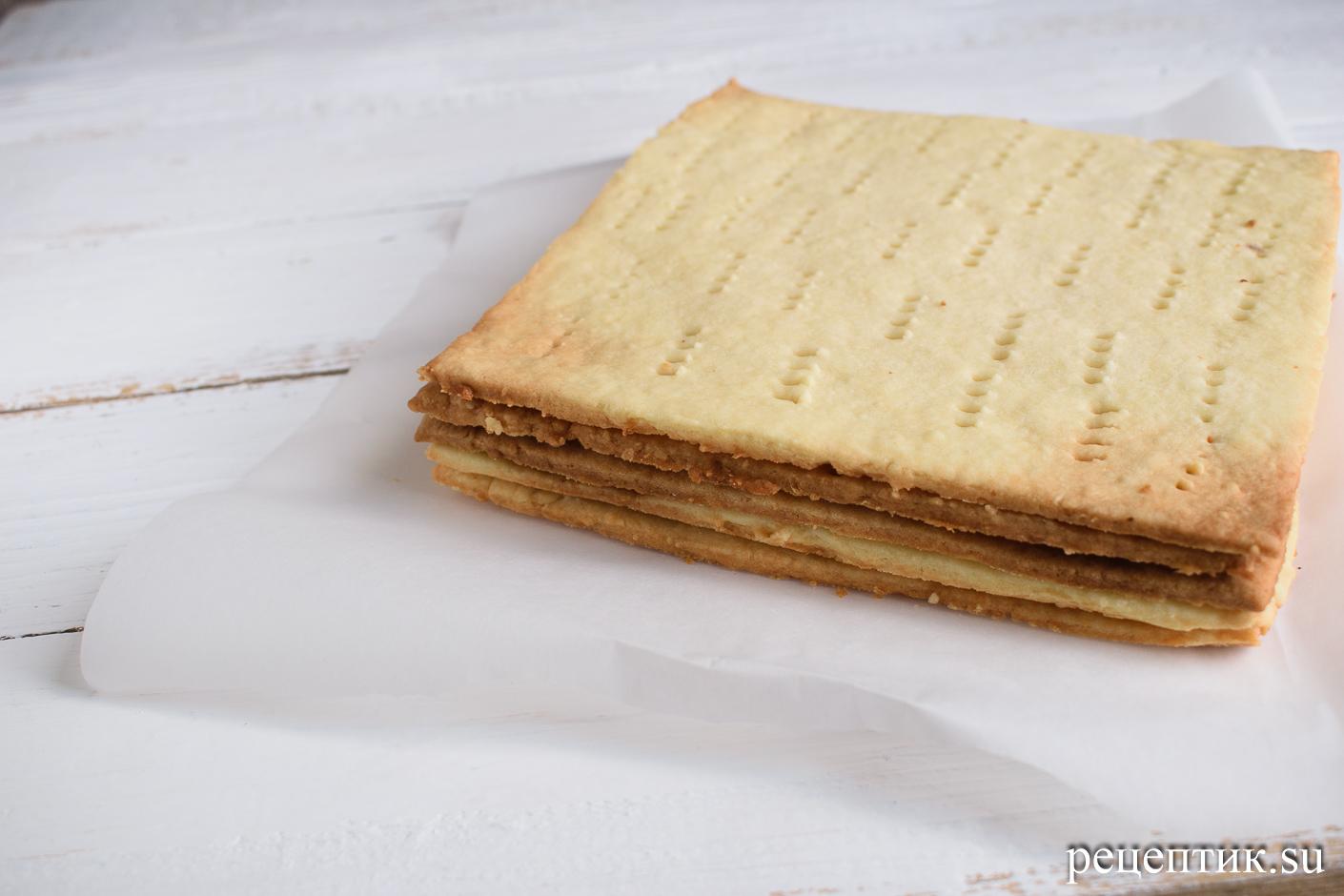 Торт «Ленинградский» — песочный торт с шоколадным масляным кремом - рецепт с фото, шаг 3
