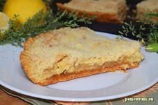 Лимонник — пирог из песочного теста