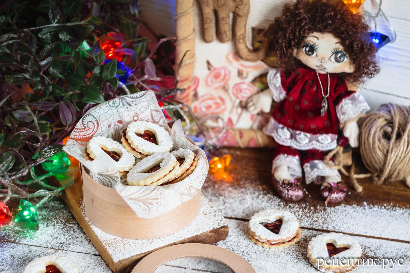 Линцерское печенье - рецепт с фото, результат