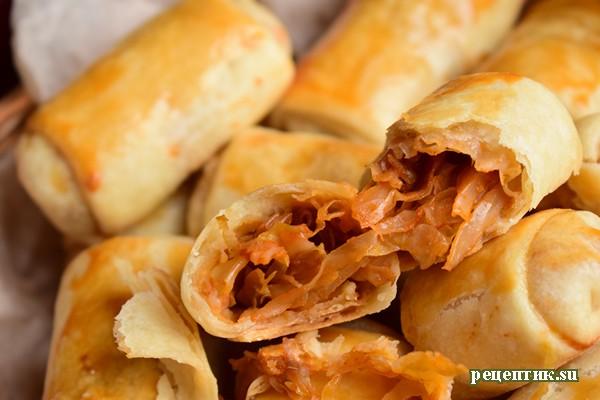 Молдавские пирожки «Вэрзэре» с капустой - рецепт с фото, результат