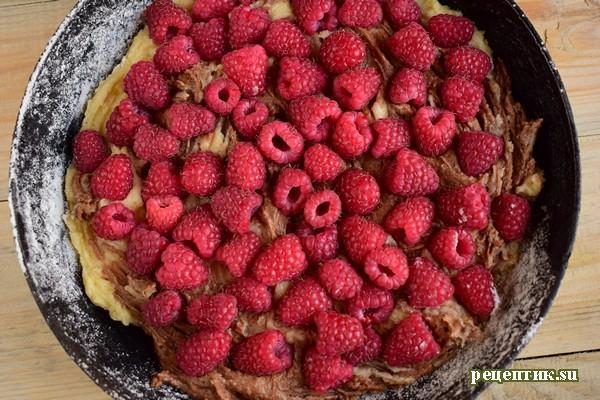 Мраморный пирог с малиной - рецепт с фото, шаг 9