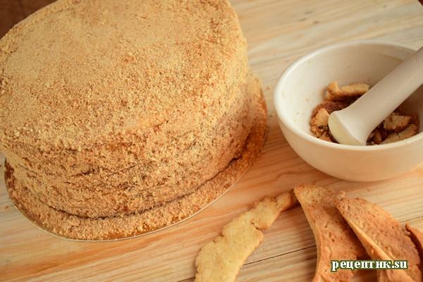 Мягкий медовик со сметанным кремом и яблоками - рецепт с фото, шаг 16