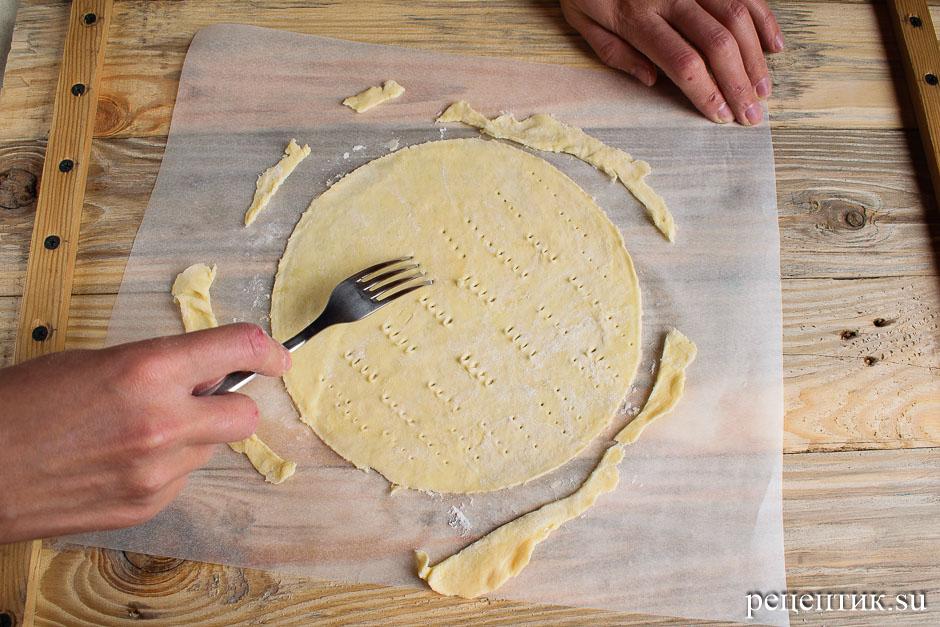 Торт «Наполеон» из рубленого слоеного теста с заварным кремом - рецепт с фото, шаг 10