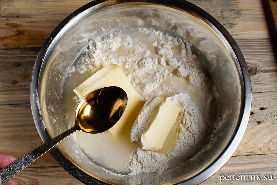 Торт «Наполеон» из рубленого слоеного теста с заварным кремом - рецепт с фото, шаг 3