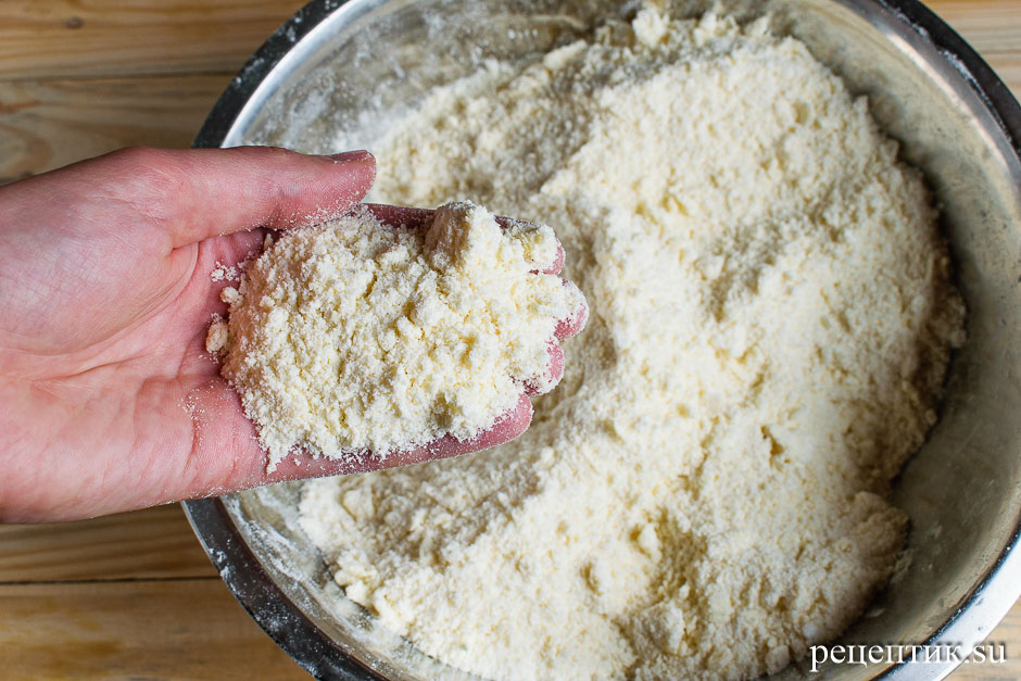 Нежный творожный пирог с крошкой - рецепт с фото, шаг 3
