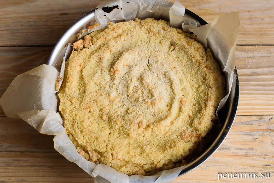 Нежный творожный пирог с крошкой - рецепт с фото, шаг 9