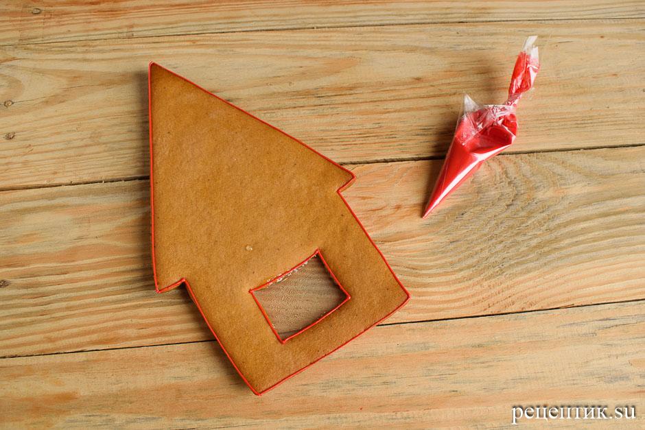Новогодний пряничный домик - рецепт с фото, шаг 14