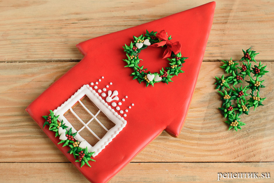 Новогодний пряничный домик - рецепт с фото, шаг 21
