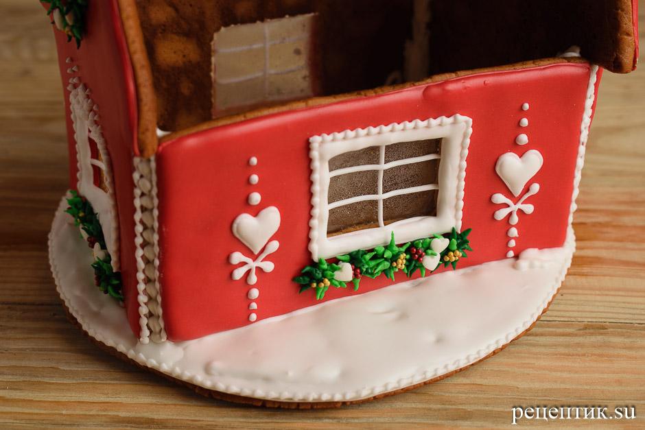 Новогодний пряничный домик - рецепт с фото, шаг 24