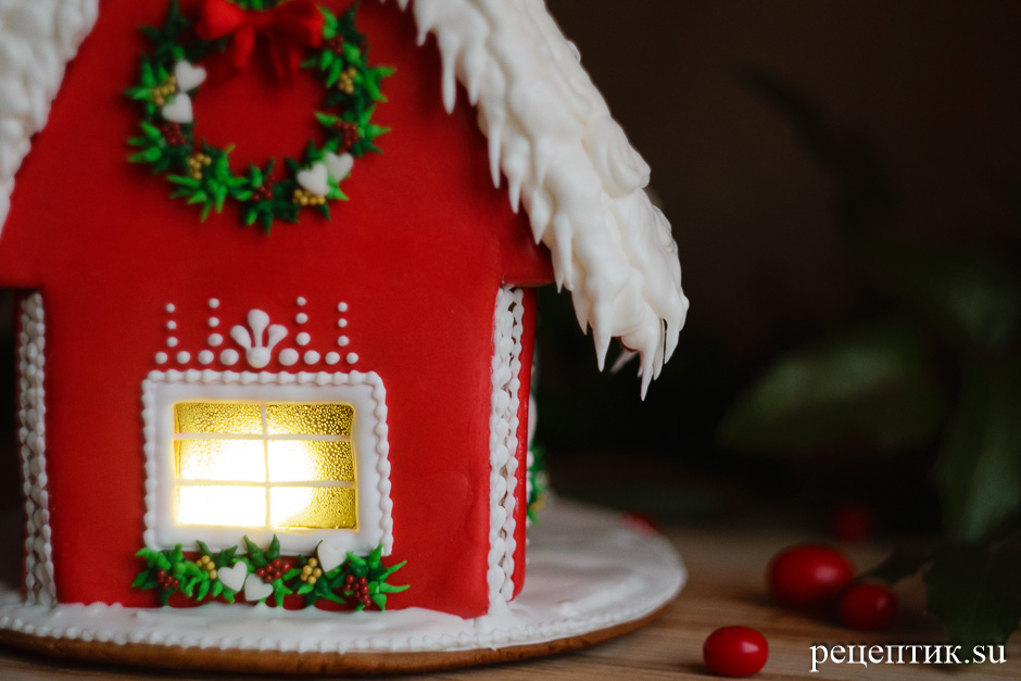 Новогодний пряничный домик - рецепт с фото, результат