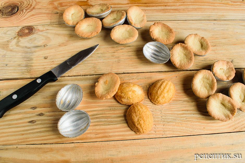 Печенье «Орешки» с вареной сгущенкой в формочках - рецепт с фото, шаг 8