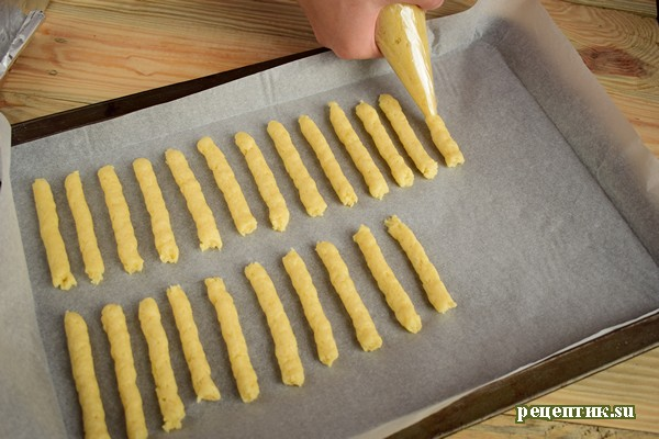 Венгерское печенье «Палочки» - рецепт с фото, шаг 8