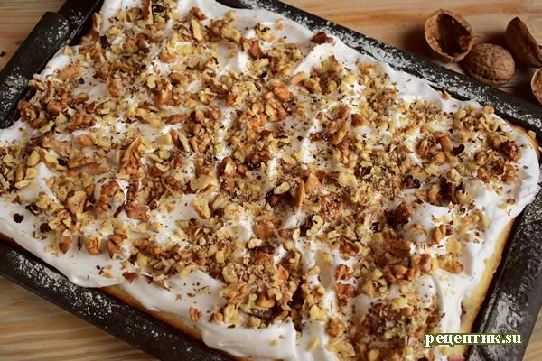Бисквитный пирог с крыжовником и безе - рецепт с фото, шаг 12
