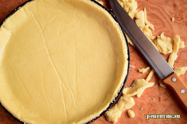 Пирог со свежей малиной и творожным сыром - рецепт с фото, шаг 7