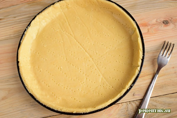 Пирог со свежей малиной и творожным сыром - рецепт с фото, шаг 8