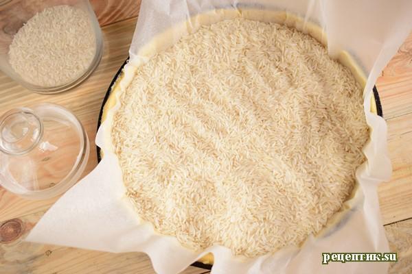 Пирог со свежей малиной и творожным сыром - рецепт с фото, шаг 9